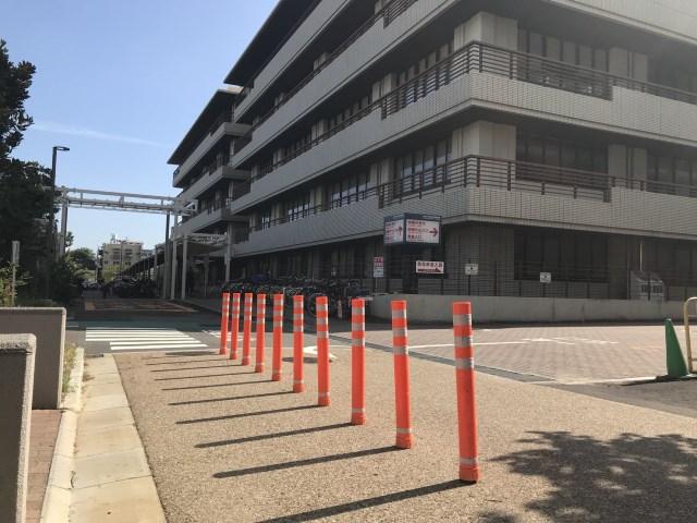 京都府 駐車場 車線分離
