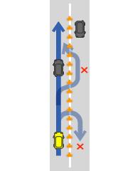 暫定二車線道路の中央分離