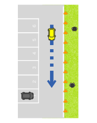 歩車道の分離